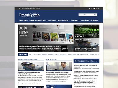PressMyWeb - Redesign Concept webdesign redesign concept pressmyweb grid homepage flat design