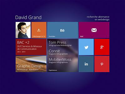 Modern UI CV windows 8 ui modern ui metro flat design grid cv webdesign