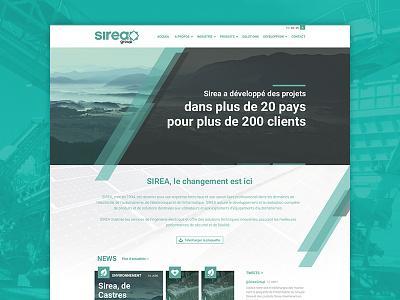 Sirea Group - Redesign Concept flat design webdesign grid homepage redesign concept sirea