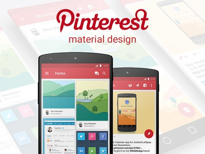 Pinterest Material Design android ui mobile app material design pinterest design lollipop