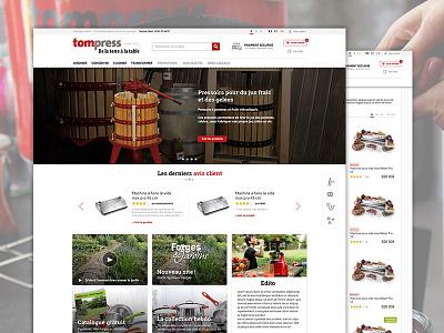 Refonte de Tom Press grid e-commerce shop homepage tom press redesign webdesign