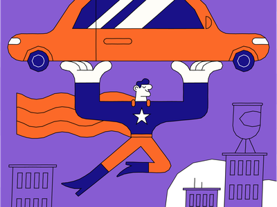 Superhero vector illustration