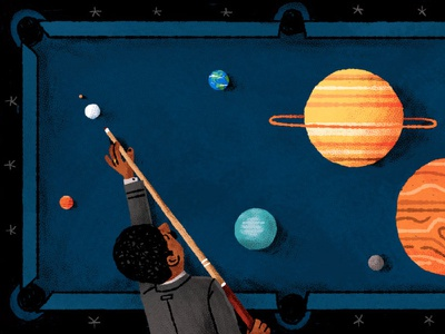 Neil deGrasse Tyson is totally over Pluto editorial space illustration