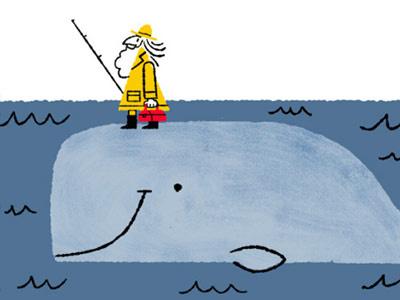 Whale kidlit illustration