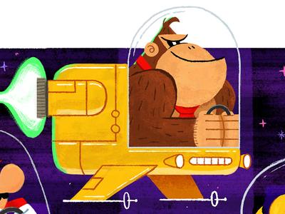 Donkey Kong kartart donkeykong dk illustration mariokart