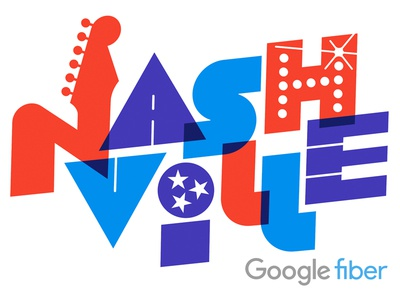 Google Fiber Nashville lettering typography geometric nashville googlefiber google