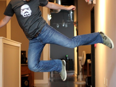 Radical! stache rebound jump photo inception rogieking justkyle