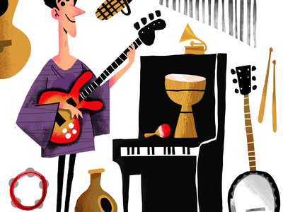 Jacob Collier music photoshop illustraton