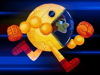 Pac-Man Suit arcade illustration videogames pacman