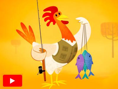 Salt PSA: Fishing Chicken animation illustration chicken character