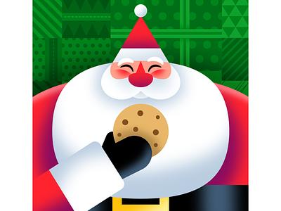 Merry Christmas! geometric illustration holiday vector christmas santa