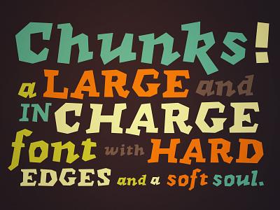 Chunks Typeface font type design chunky typography creativemarket