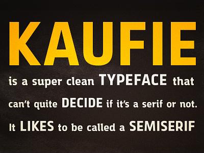 Kaufie Typeface font type design clean creativemarket