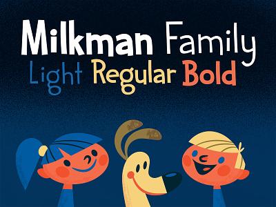 Milkman Font font family milkman illustration typeface creative market creative market