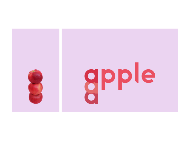 apetino: Apple illustration graphic design typeface design typography art apetino
