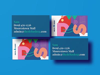 Delta Sleep 4 sleep delta print business card branding logo brand design