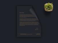 fine Line Architecture letterhead