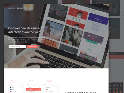 Coming Soon Page responsive filters filter by design landing page sign up coming soon