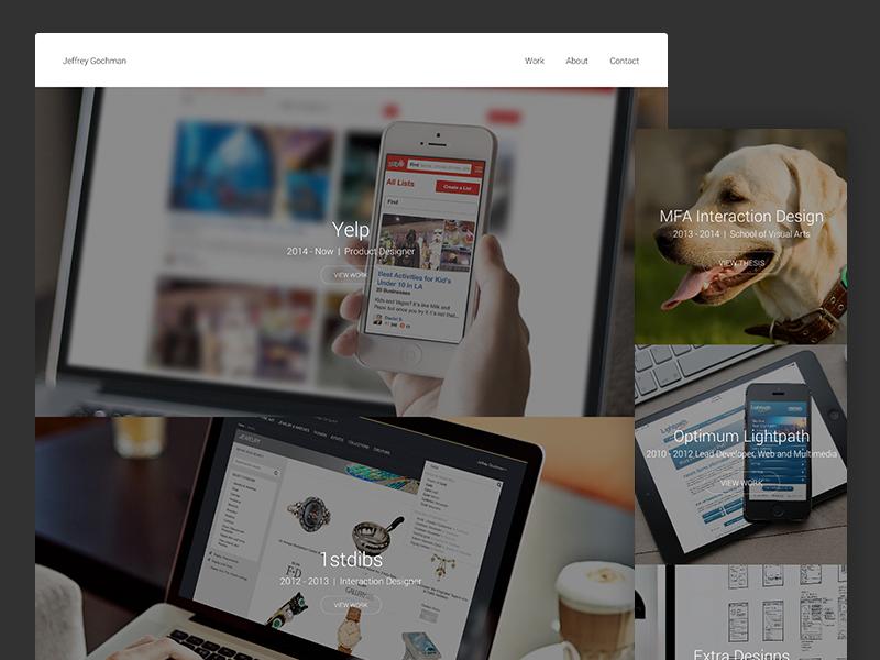 Portfolio Update work personal responsive full images portfolio