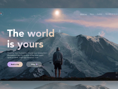 Travel booking service web design