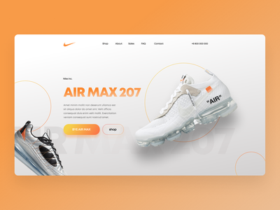 Nike concept typography web design
