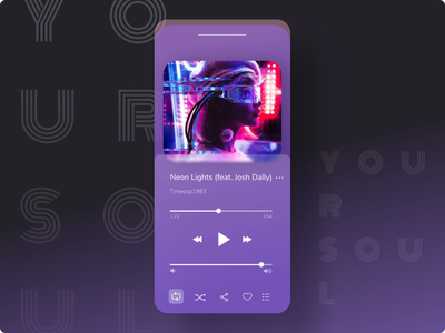 player concept web ux ui typography app design