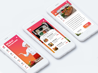 Makai Restaurant | Mobile App menu ux iphone ios invite interface gradient filipbenda dribbble food benda restaurant