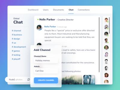 Team Chat | Interface ux grid dashboard popup chat invite interface gradient filip benda form dribbble benda