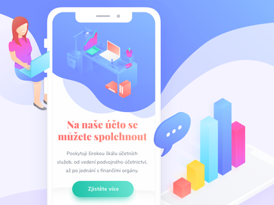 1Ucto Mobile | Accountancy ux landing filip ios invite interface gradient filipbenda dribbble design accountancy benda