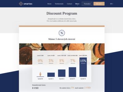 Discount Program | Smartex ux landing filip ios invite interface crypto filipbenda dribbble design exchange benda
