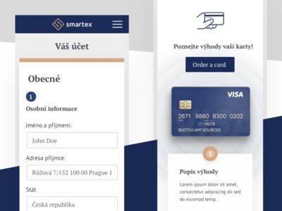 Profile Mobile | Smartex benda exchange design dribbble filipbenda crypto interface invite ios filip landing ux