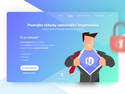 Landing Hero | Unicash crypto interface ux landing filip filipbenda dribbble gradient illustration design exchange benda