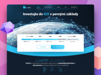ICO Crypto Hero | UniFox benda exchange design illustration gradient dribbble filipbenda filip landing ux interface crypto