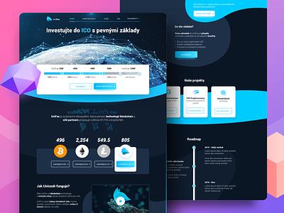 ICO Crypto Hero | UniFox ux landing interface illustration gradient filipbenda filip exchange dribbble design crypto benda