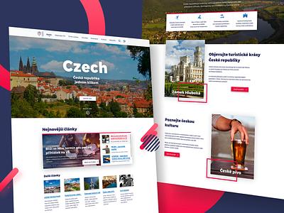 Landing Page Concept | Czech ux landing interface illustration gradient filipbenda country dribbble design czech benda