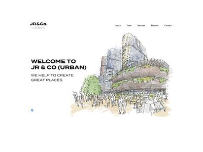 JR&Co. Architectural design-related website animation flat minimalism illustration architectural ui website design