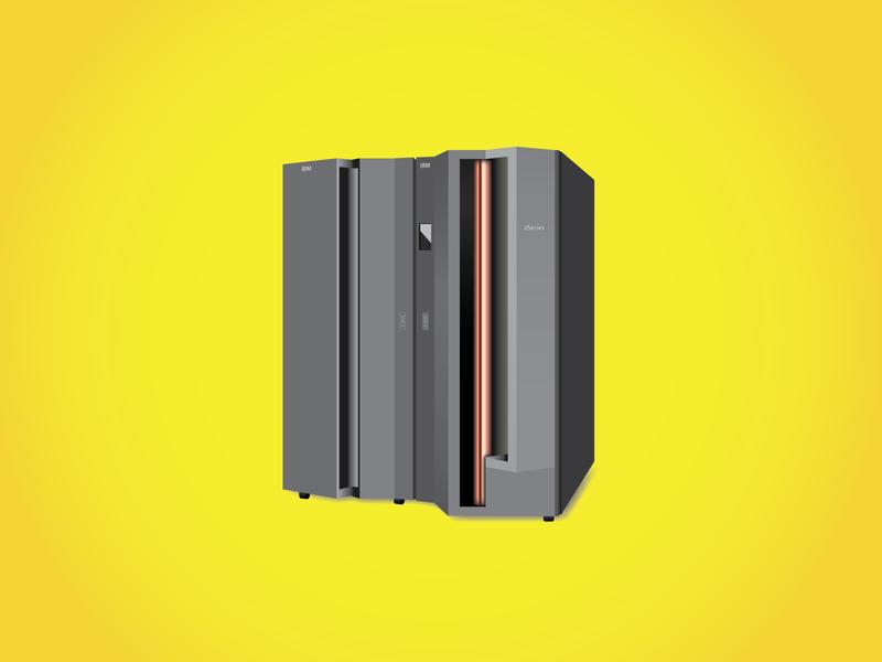 Mainframe Illustration server computer mainframe illustration