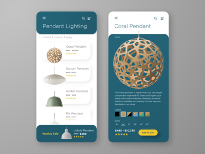 Lighting Shopping moble ui mobile figma user interface user experience ux ui shop product ecommerce lighting