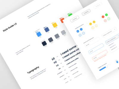 General Style Guide notification toast modal redline cta form fields buttons ui ux color palette typography style guide