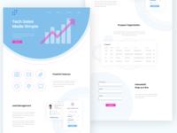 Tech Sales design website design web design ui tech sales products landing page desktop
