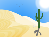 Desert Landscape figma dunes graphic design sand blue sun cactus landscape desert illustration
