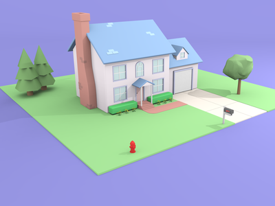 3d House model vectary 3d vectary 3d house house 3d