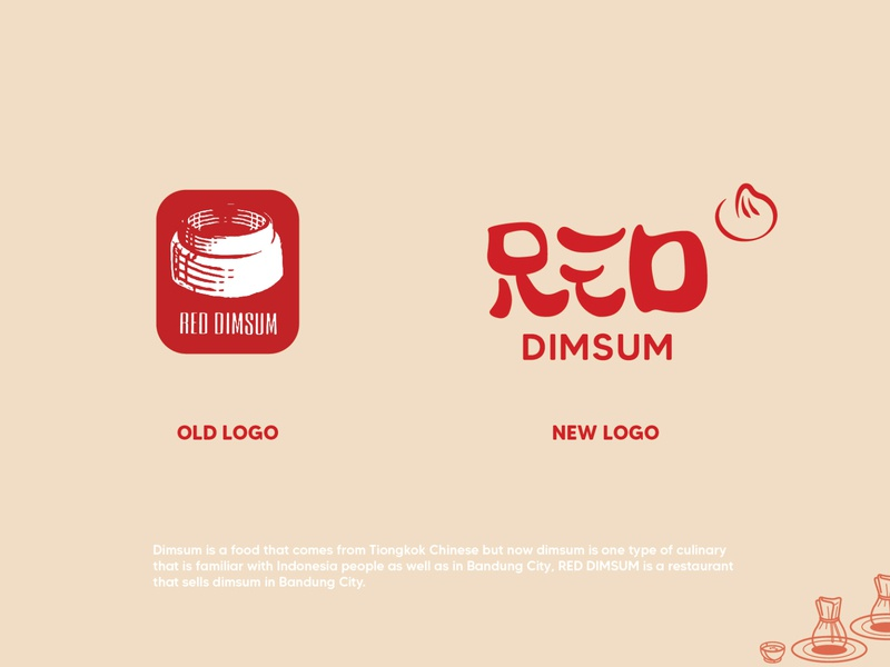 Fake Project | Redesign Logo for RED DIMSUM design typography dimsum chinese food logotype food brand design branding logo