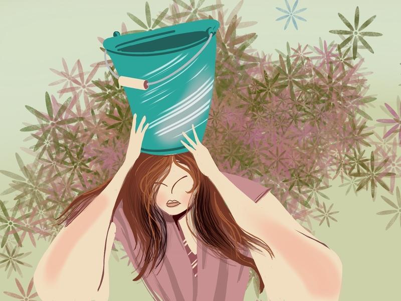Bucket head gif bucket animation drawing illustration