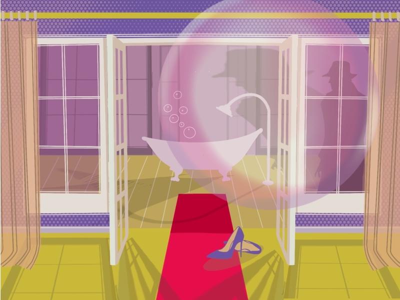 Bubble bathroom bath bubble drawing illustration
