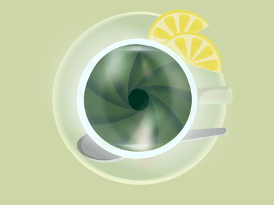 Green tea camera lens camera lemon green tea tea animation gif drawing illustration