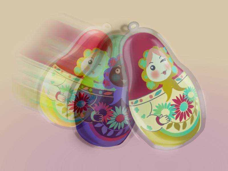 Charming matryoshkas charms matryoshka design drawing illustration
