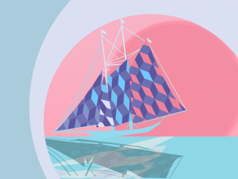 Prostory 1 procreate history sailing yacht boat summer design drawing illustration