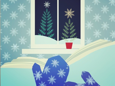Snowlake generation holiday. book reading xmas christmas holidays holiday snowlakes procreate design drawing illustration