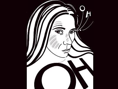OH design girl procreate drawing illustration